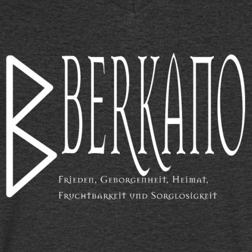 Runen - Berkano - SchriftzugWeiß - Männer Bio-T-Shirt mit V-Ausschnitt von Stanley & Stella