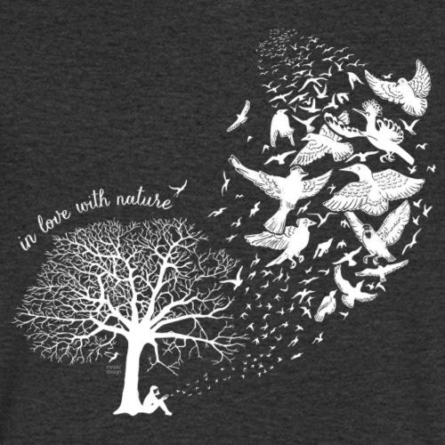 in love with nature - Resonanz - weiß - Männer Bio-T-Shirt mit V-Ausschnitt von Stanley & Stella