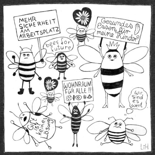 bees for future - Männer Bio-T-Shirt mit V-Ausschnitt von Stanley & Stella