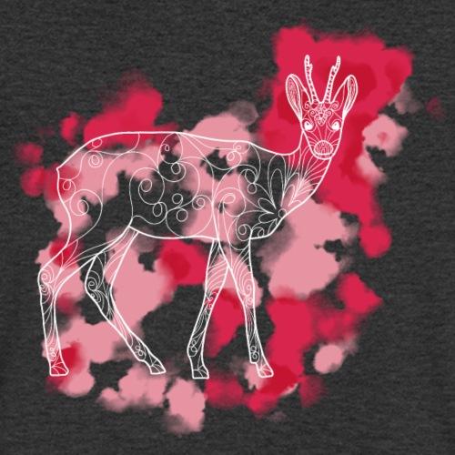 Rehbock gemustert weiß - Männer Bio-T-Shirt mit V-Ausschnitt von Stanley & Stella