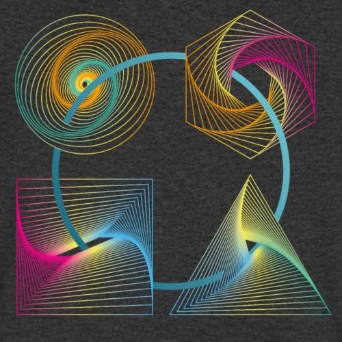 Regenbogen Geometrie - Männer Bio-T-Shirt mit V-Ausschnitt von Stanley & Stella