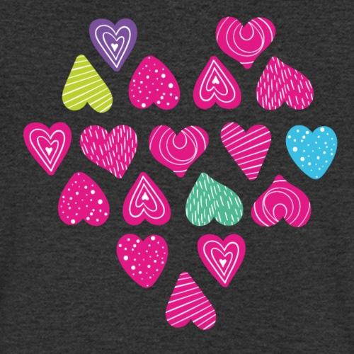 I love you Herz aus Herzen mit Doodle Textur - Männer Bio-T-Shirt mit V-Ausschnitt von Stanley & Stella