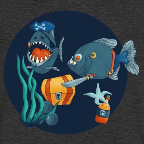 pirate piranhas - Männer Bio-T-Shirt mit V-Ausschnitt von Stanley & Stella