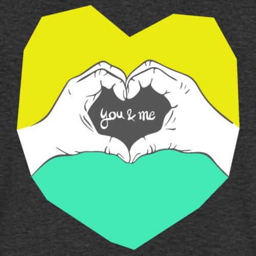 hearthands you & me Poly Herz illustration - Männer Bio-T-Shirt mit V-Ausschnitt von Stanley & Stella