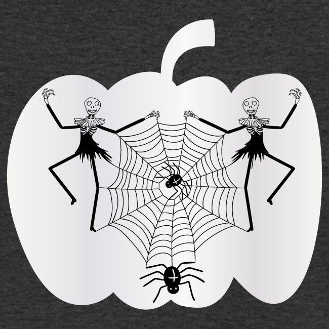 halloween spinnennetz und Skelette