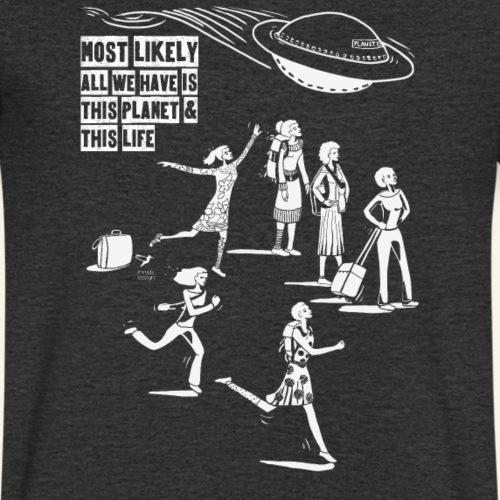 Planet Erde - UFO - Männer Bio-T-Shirt mit V-Ausschnitt von Stanley & Stella