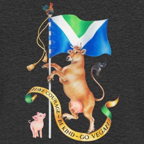Vegan flag design by Maria Tiqwah - Men's Organic V-Neck T-Shirt by Stanley & Stella
