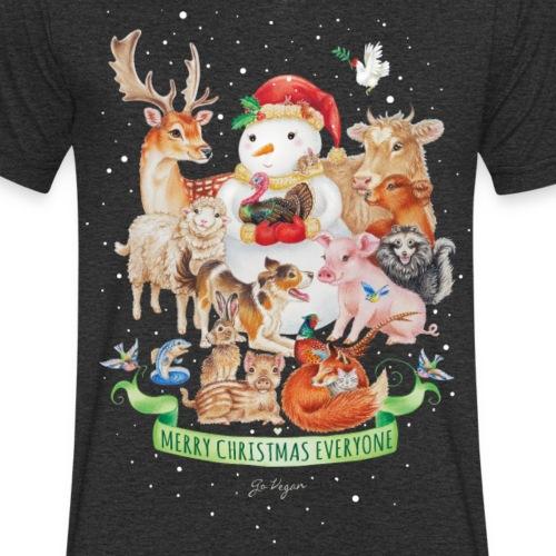 Vegan Christmas - Mannen bio T-shirt met V-hals van Stanley & Stella