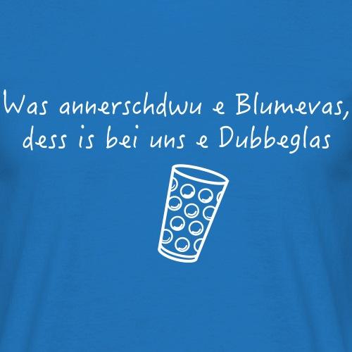 Blumenvase ≠ Dubbeglas - Männer T-Shirt