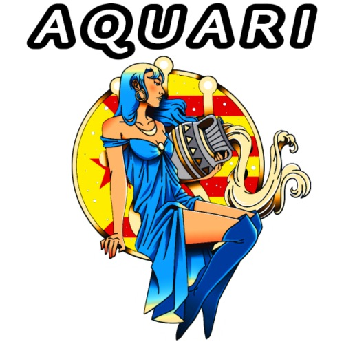 Aquari estelada vermella - Camiseta hombre