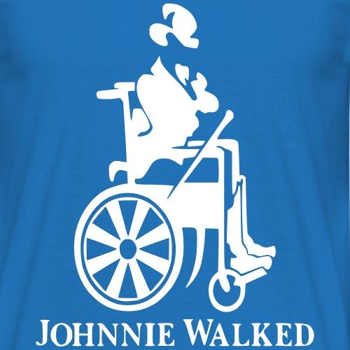 Voor rolstoel gebruikers die van Whisky houden - Mannen T-shirt