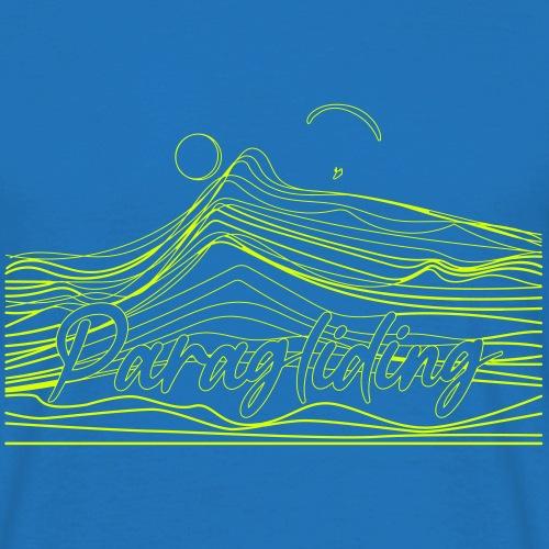 Paragling Lineart Gleitschirn - Männer T-Shirt