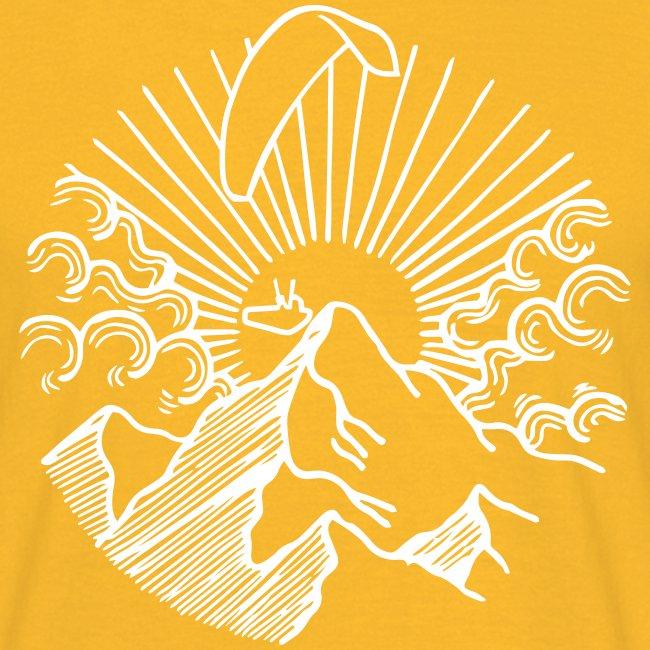 Paraglider Mountain Sunrise