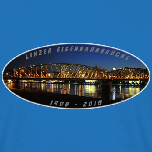 EisenbahnbrückeLinz1 png - Männer T-Shirt
