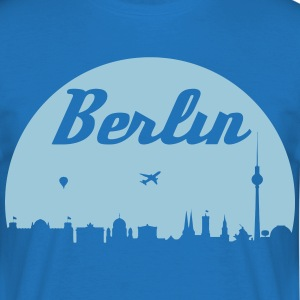 Berlin skyline - T-skjorte for menn