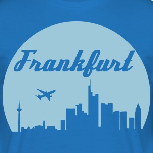 Frankfurt skyline - T-skjorte for menn