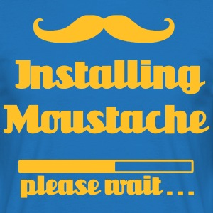 Installing Moustache, please wait - Men's T-Shirt