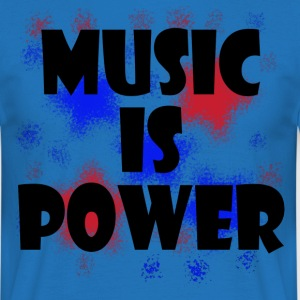 Music is Power rot blau - Männer T-Shirt