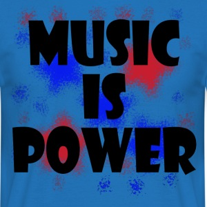 Music is Power red blue - Men's T-Shirt
