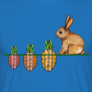 Happy Easter bunny with Ostermöhrchen - Men's T-Shirt