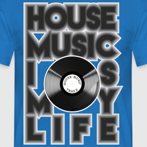 House Music is my life - T-shirt herr