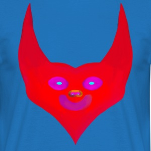 cornes cardiaques diable satan abstract - T-shirt Homme