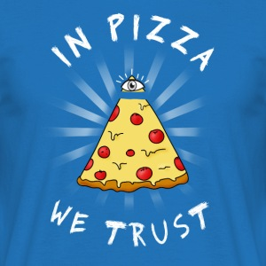 Pizza All Seeing Eye Illuminati FunnyFood ma oculaire - T-shirt Homme