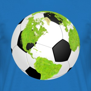 football soccer earth planet globe fu ball erde - Männer T-Shirt