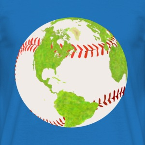baseball earth planet globe erde globus - Männer T-Shirt