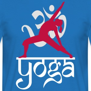 Yoga OM Reverse Warrior Pose - Mannen T-shirt
