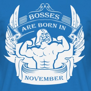 Bosses er født i november - Herre-T-shirt