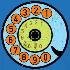 Dial phone Vintage Retro phone Pop Art - Men's T-Shirt