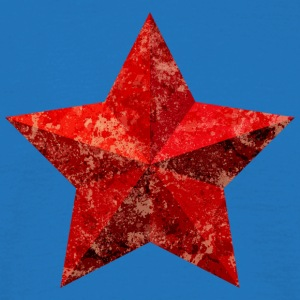 Red Star Red Star Christmas grunge flag - Men's T-Shirt