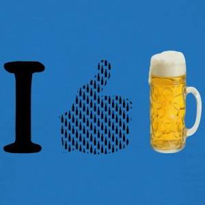 I like beer - Men's T-Shirt