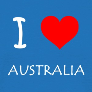 I Love Australia - T-skjorte for menn