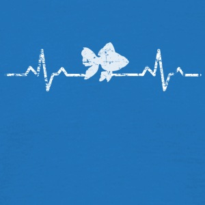 My heart beats for fish - Men's T-Shirt