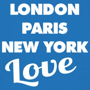 Kärlek LONDON | PARIS | NEW YORK - T-shirt herr