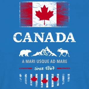 Canada Canada America maple leaf flag banner Bear - Men's T-Shirt