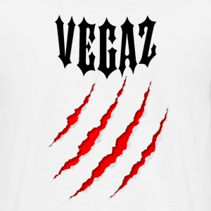 Vegaz Logo V3 Black Bear Claw - Men's T-Shirt