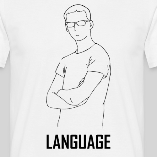 language black - Men's T-Shirt