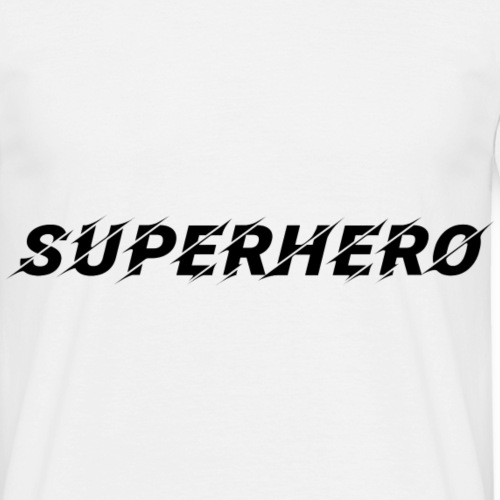 SUPERHERO Superheld Super Held Geschenk Idee - Männer T-Shirt