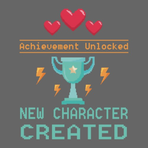 Achievement Unlocked New Character Created - Männer T-Shirt