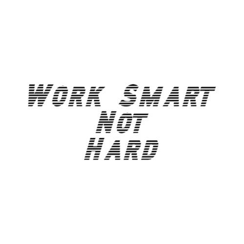Work smart not hard - T-skjorte for menn