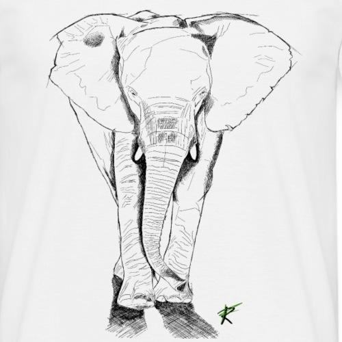 Elefante sketch - Maglietta da uomo