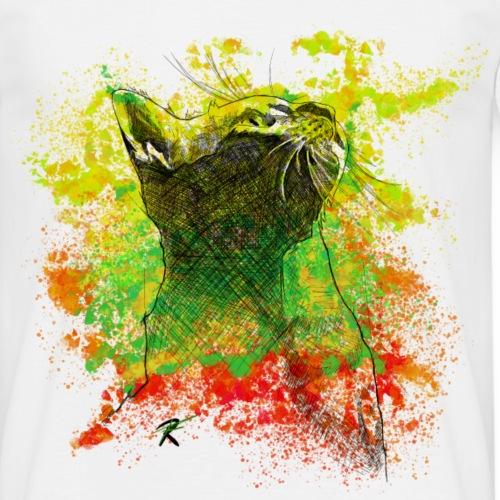 Gatto color sketch - Maglietta da uomo