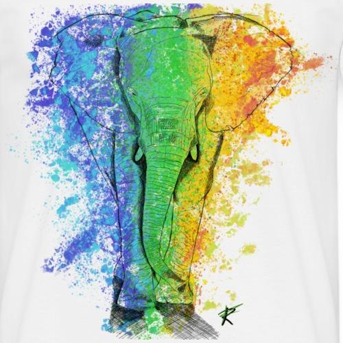 Elefante sketch color - Maglietta da uomo