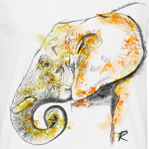 Elephant 2 color - Maglietta da uomo