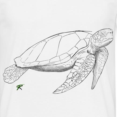 Sea turtle sketch - Maglietta da uomo