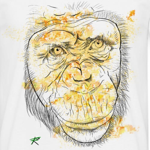 Scimpanzè color - Maglietta da uomo