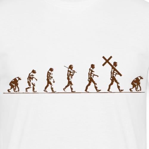 evolution - T-skjorte for menn